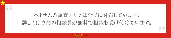 ベトナム 調査エリア